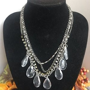 AEO Chandelier Faux Crystal Statement Necklace